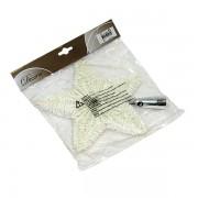 Novogodišnji ukras Zvezda sa trakom 23cm KM 410511