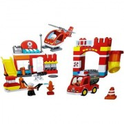 Emob 90 PCS Building Fire Rescue Station Theme 3D Bricks Educational Blocks Set Construction Toy for Kids (Multicolor)