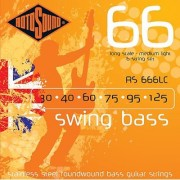 Rotosound RS666LC Swing Bass 66 Stainless Steel 6 String Bass Guitar Strings (30 40 60 75 95 125)