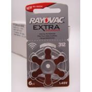 Baterii Rayovac 312, 1.45V, PR41 auditive BLISTER 6 bucati pentru aparate auditive
