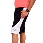 World Sports Men Black Matching White SHORTS Sportswear Gym wear (NS Lycra Fabric)
