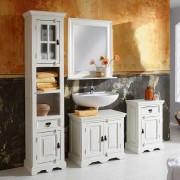 Badezimmer Komplettset in Antikweiß Antik Finish (4-teilig)