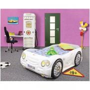 Patut Plastiko Sleep Car cu Dulap Petrol Station alb