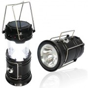 Solar Emergency Light with USB Mobile Charging Point (Black)