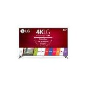 Smart TV LED 43 LG Ultra HD 4K Sistema WebOS 3.5 Wi-Fi Painel IPS HDR Local Dimming Magic Mobile Connection 4 HDMI 2 USB 43UJ6565