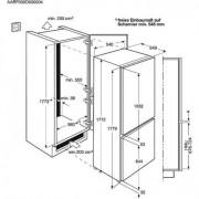 GARANTIE 2 ANI Combina frigorifica AEG, clasa A+, SCB51811LS