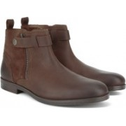 Clarks Brocton Mid Tan Leather Boots For Men(Tan)