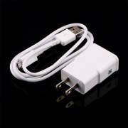 EB US Plug Wall Charger + Cable De Datos USB Para SamSung Galaxy Note2 II N7100 S4 S3 - Blanco