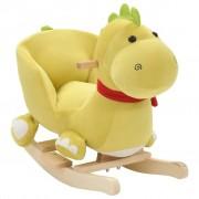 vidaXL Plišani zmaj za ljuljanje s naslonom 60 x 32 x 53 cm boje limete