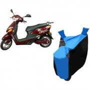 Intenzo Premium Blue and Black Two Wheeler Cover for Hero Electric Optima Plus