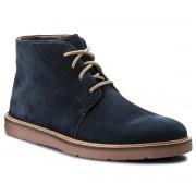 Обувки CLARKS - Grandin Mid 261364477 Navy Suede