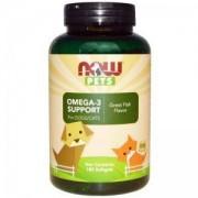 Омега-3 за кучета и котки - PET - Omega 3 cats & dogs - 180 дражета - NOW FOODS, NF4315