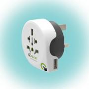 "Q2 power Utazóadapter, ""World to UK USB"""