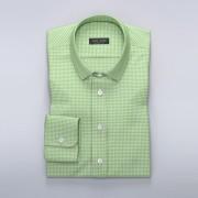 Tailor Store Rutig skjorta i lime/vitt