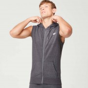Myprotein Tru-Fit Sleeveless Hoodie - XL - Charcoal Marl
