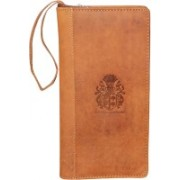Kan Premium Quality Hunter Leather Travel Document Holder/Passport Organizer with 3 Passports-Best Durga Puja Offer(Gold)