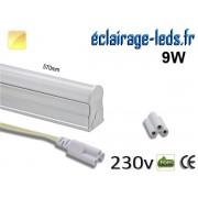 Tube LED T5 9w blanc chaud 900 Lm 230v AC ref tu09-01