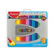 Creioane colorate Maped COLOR`PEPS, 24 buc./cutie