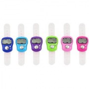 6 Pcs High Quality Counting Machine Finger Watch Digital Tally Counter (Multicolor Pack of 6)