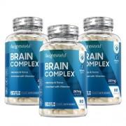 WeightWorld Brein Complex - Natuurlijk Voedingssupplement met Vitaminen voor mentaal evenwicht - 3 Pack