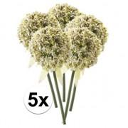 Bellatio flowers & plants 5x Witte sierui kunstbloemen 70 cm