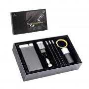 Set cadou Puridea, Baterie Externa + Incarcator auto + Cablu 3in1 + Adaptor Priza + Boxa, Negru