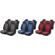 Walser Autostoel beschermhoes zwart / blauw