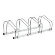 [neu.haus]® Biciklitároló acél 99 x 33 x 26 cm kerékpár tartó 4 kerékpárnak