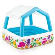 Piscina gonflabila pentru copii cu acoperis detasabil pentru protectie solara - Pestisori 157 x 157 x 122 cm