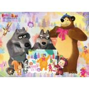 Puzzle Ravensburger - Masha Si Ursul, 100 piese (10590)
