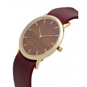 Analog Watch Classic Makore Wood Dial & Cherry Strap Watch GC-CM