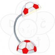 Stona lampa Fudbal, crveno-bela