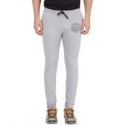 Cliths Light Grey Melange Zeep Printed Sports Jogger for Men