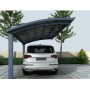 Bouvara Abri voiture 2 poteaux 3X5m gris anthracite