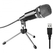 USB Microphone Fifine Plug &Play Home Studio USB Condenser Microphone for Skype Recordings for YouTube Google Voice Search Games(Windows/Mac)-K668