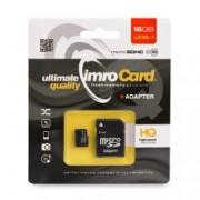 Card de memorie Imro Micro SD-UHS 16 GB Class 10 + Adaptor SD