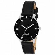 JAYSHREE KHODIYAR Analogue Classic Black Dial Black Leather Strap Ladies Wrist Watch for Girls and Women Styli