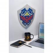 Cuadro decorativo en forma escudo Hylian Shield de Zelda Metalico Original Nintendo