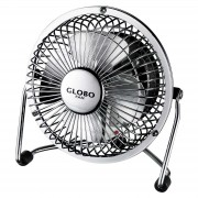 Van table fan, chrome-coloured, 2 levels