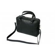 Skórzana torba na ramię A4, na laptopa, czarna