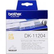 Brother DK-11204 Etiquetas multiuso 17x54mm blanco 400 etiq/rodillo
