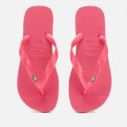 Havaianas Women's Brasil Flip Flops - Tulip - EU 39-40/UK 6-7 - Pink