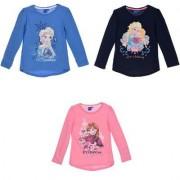 Disney Frost Anna & Elsa Långärmad T-shirt barn (Rosa, 8 ÅR - 128 cm)