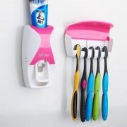 Unique Cartz Automatic Toothpaste Dispenser And Tooth Brush Holder Set Random Color CodeBDis-Dis515