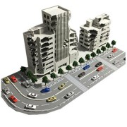 1/144 Battle Damaged Building Outland Model Railway Office Scene Gift With Packaging
