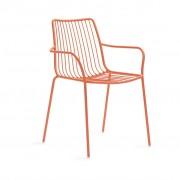 Pedrali Nolita 3656 Stuhl mit Armlehne rot