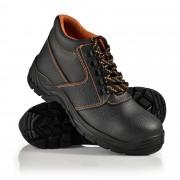Работни обувки [pro.tec]® 45 S3, водоустойчиви, стоманени подложки, Черни/ Оранжеви