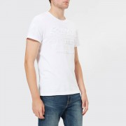 Superdry Men's Vintage Authentic Embossed T-Shirt - Optic - L - White