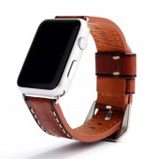 Vintage Style Genuine Leather Watch Strap for Apple Watch Series 5 4 40mm, Series 3 / 2 / 1 38mm - Brown