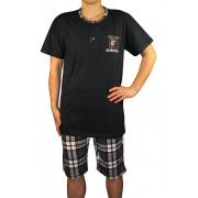 Randall pánské pyžamo - 3/4 kalhoty L černá